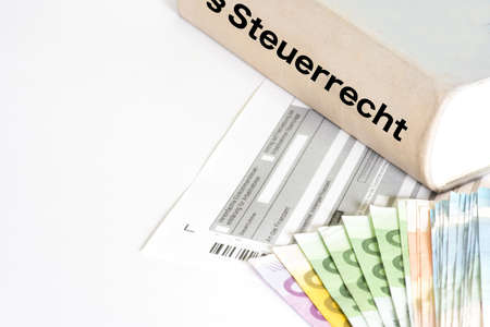 A German form for the taxation, money and legislation for tax law