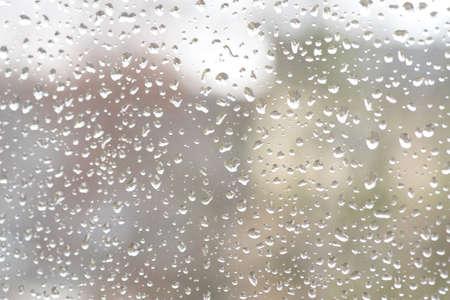 A window in the rain