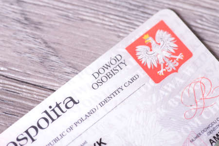 A Polish identity card Foto de archivo