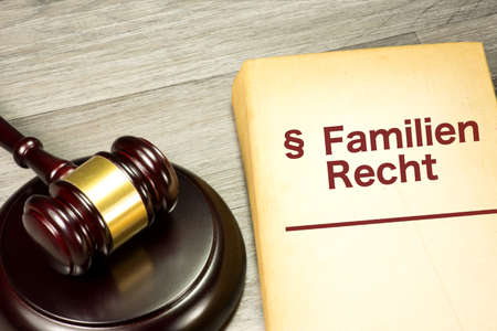 A gavel and a German Code of Family Law