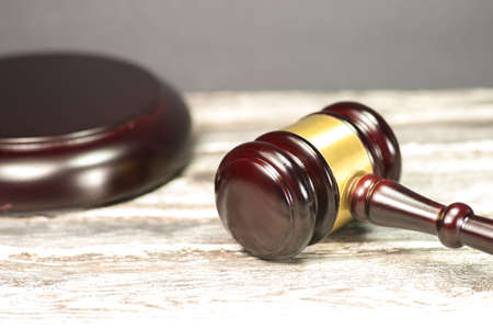 A gavel or hammer auctions Stock Photo