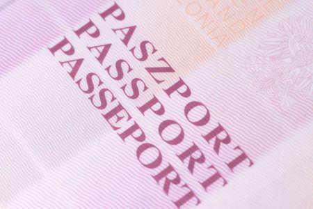 polish: A Polish passport Stock Photo
