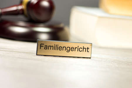 adultery: A gavel and the family court in Germany