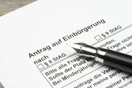 naturalization: An application for naturalization in Germany