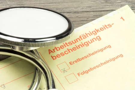 Stéthoscope et médical documentation Banque d'images - 80477137