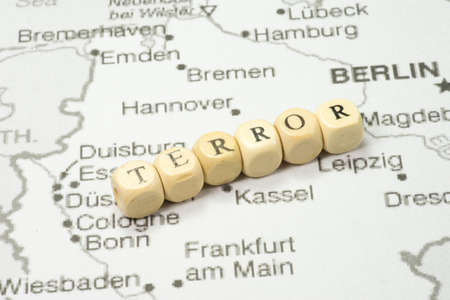 Map of Germany and terror