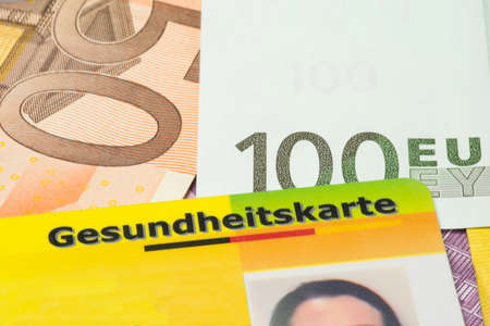 Euro money and health card Stock fotó - 83533559