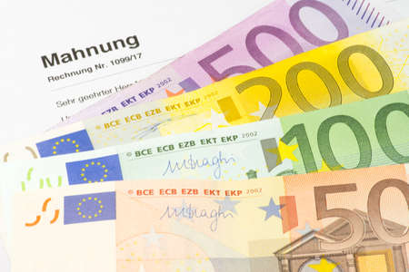 curator: Euro money and bailiff Stock Photo