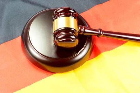Gavel and German flag