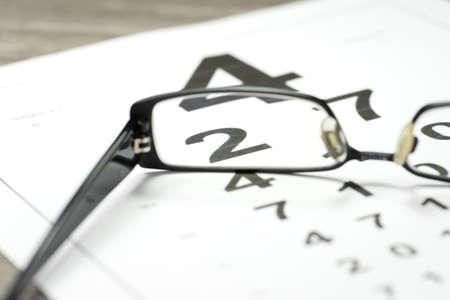 비전 및 안경 테스트 스톡 콘텐츠