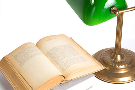 Book and night lamp Imagens