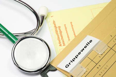 Medical stethoscope and influenza epidemic