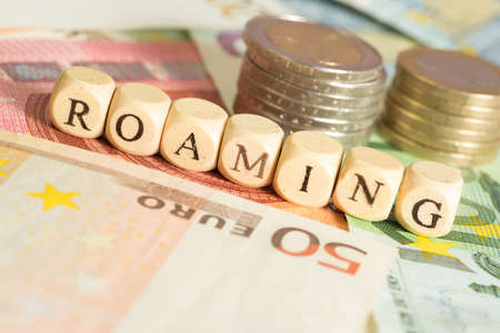 roaming: Roaming and euro money Stock Photo