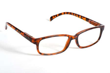Glasses on light background