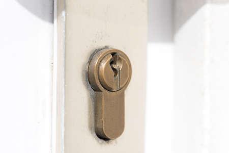Een slot en een deur Stockfoto