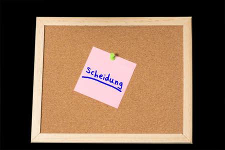 Information board and divorce
