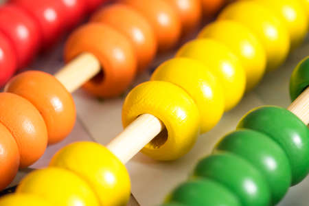 Wooden colored abacus Stock Photo