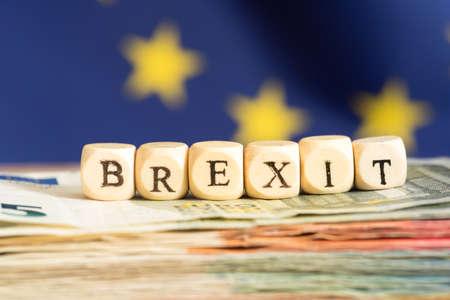 유럽 연합 깃발과 brexit 스톡 콘텐츠