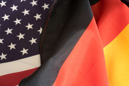 German flag and american flag Stock Photo
