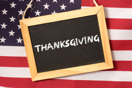 American flag and holy thanksgiving