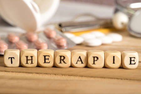 Tabletten en therapie Stockfoto