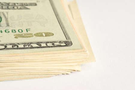 Close-up of dollar bills
