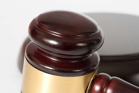 A judges hammer or auction hammer Imagens