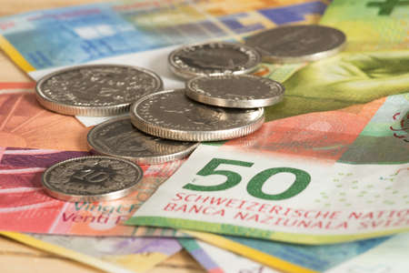 Coins and banknotes Swiss francs
