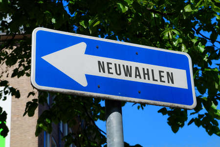 A sign and direction new elections