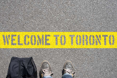 A man with the bag and a welcome in Toronto