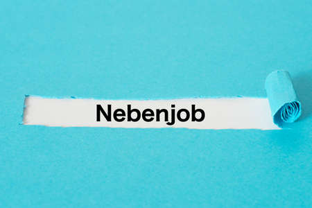 A piece of paper and the word side job