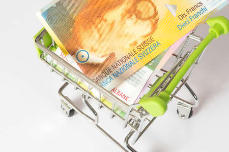 Shopping cart and Swiss Franc