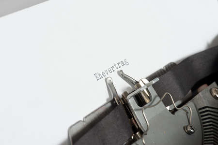 A typewriter and a marriage contract