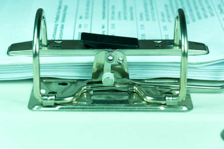 A folder with documents