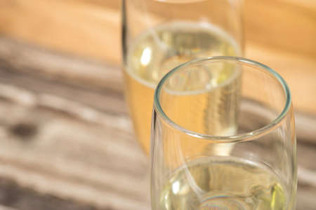 Champagne or champagne in the glass Stock Photo