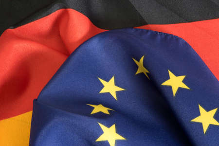Flags of Germany and the EU