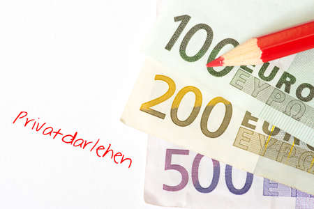 Euro bills and a personal loan