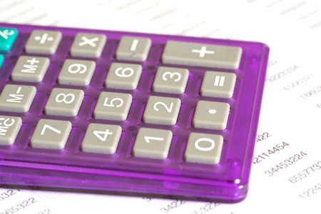 A calculator and a spreadsheet