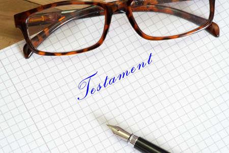 A handwritten testament Stock Photo