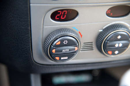 Car interior and switch for the air conditioning Reklamní fotografie
