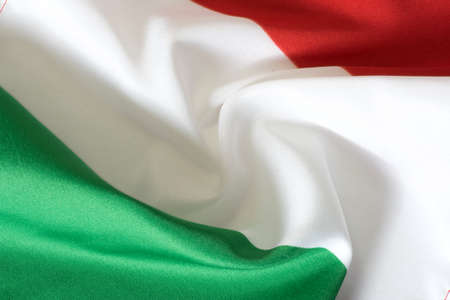 Closeup of the flag of Italy