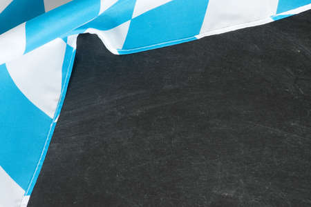 Flag of Bavaria and black chalk board as a template for editing