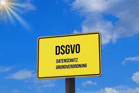 A blackboard and data protection basic regulation DSGVO Stock fotó