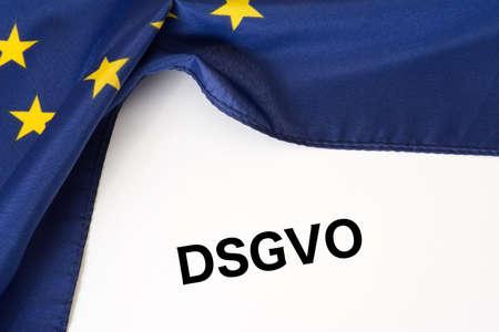 Flag of the European Union EU and data protection Basic Regulation