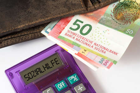Swiss franc, money and social welfare in Switzerland