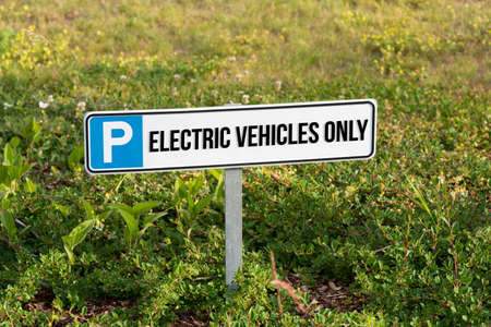 A parking space for electric car