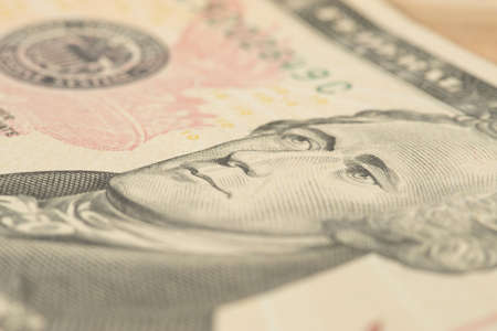 A close up of a dollar bill Stock Photo