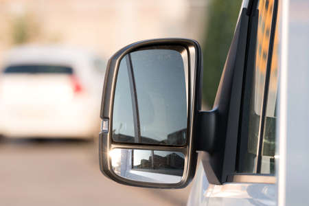 Exterior mirrors of a pickup truck Stockfoto