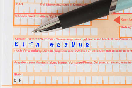 A form for a referral of Kita fees Standard-Bild