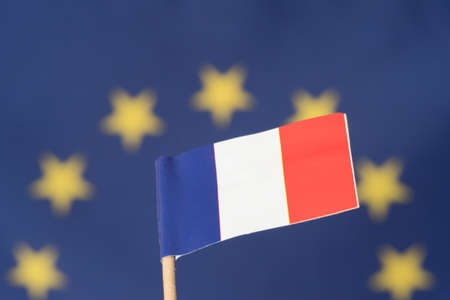 Flag of the European Union EU and of France